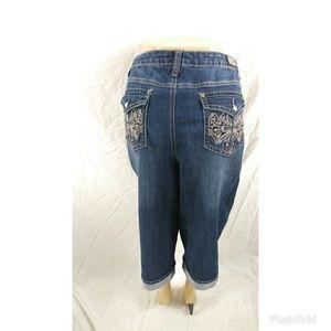 252c5ae12ea Earl Jeans Jeans - Earl Jeans Plus Size 20W Bling Cross Cropped Denim